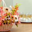 Basket with flowers — Stock Photo #31111209