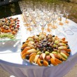 Tropical fruit on the wedding banquet — Stock Photo