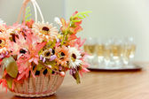 Basket with flowers — Stockfoto