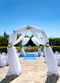 Scenery for marriage ceremony — Stock Photo