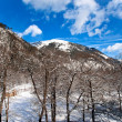 Mountain panorama in the winter — Stock Photo