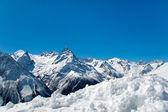 Montanha e neve no topo — Foto Stock