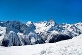 Vistas das montanhas de inverno — Foto Stock