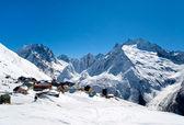 Casas no topo das montanhas — Foto Stock