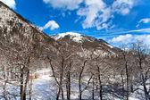 Kışın dağ panorama — Stok fotoğraf