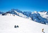 Ski resort adlı kişi var — Stok fotoğraf
