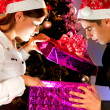 Young people are with gifts for the new year — Stock Photo #35793803