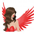 Stock Vector: Red angel