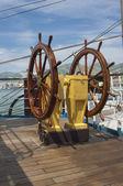 The wheel of the ship — Stock Photo
