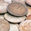 Old hungarian silver coins — Stock Photo