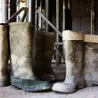 Dirty galoshes at construction site — Stock Photo #28593095