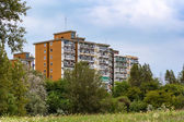 Apartment block in the nature — Stock Photo