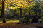 Autumn cemetery — Stock Photo