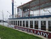 Canandaigua Lake Paddle Wheel Tourism Boat Parked in Slip — Stock Photo