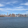 New York City Skyline View with Blue Sky And Cloud Formation — Stock Photo