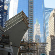 Construction continues on the transportation station near the Freedom Tower in New York — Stock Photo