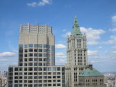 View of the Woolworth and Transport Buildings from 54th Floor of Millennium Hilton Hotel — Stock Photo