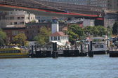 Tourists and Locals Enjoy a Trip In Summer Aboard the New York Water Taxi Ferry — Photo
