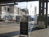 Cierre de south street seaport en cuanto a renovación después del huracán arena en nueva york — Foto de Stock