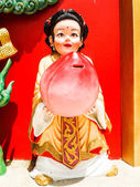 Big china doll, chachoengsao in thailand — Stock Photo
