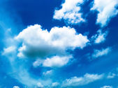 Blue sky with white clouds background — Stock Photo