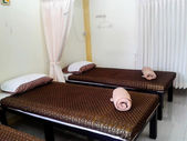 Thailand massage and spa treatment room — Stock Photo