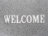 Popular metal texture pattern text welcome — Stock Photo