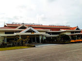 Nakhon si thammarat airport thailand, landing field near the ter — Stock Photo