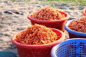 Dried shrimp is the best of seafood goods logistic in asia, have — Stock Photo