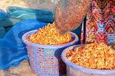 Camarón seco es el mejor de los bienes de mariscos logísticas en asia, han — Foto de Stock