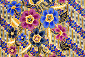 Popular batik sarong pattern background in Thailand, traditional — Stock Photo