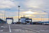 Sea port of seatran ferry terminal a pier koh samui,surat thani  — Stock Photo