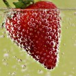 Stock Photo: Bubbly Strawberry