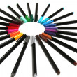 Coloured pen — Stock Photo