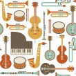 Stock Vector: Jazz pattern