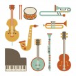 Stock Vector: Music set
