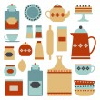 Kitchen set — Stock Vector