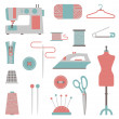 Sewing icons — Stock Vector