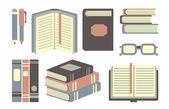 Books set — Stock Vector