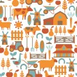 Seamless pattern with farm related items — Stock Vector #29019065