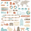 Tourism infographic set with colorful icons. Vector design elements — Imagen vectorial