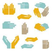 Hands vector set — Stock Vector