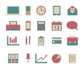 Set of flat business icons — Stock Vector