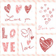 Set of Valentine's day cards — Vettoriale Stock