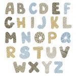 Doodle latin alphabet — Stock Vector #29020105