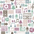 Seamless pattern with music icons — Stock Vector