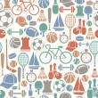 Seamless pattern with sport icons — Stock Vector