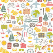 Traveling pattern. colorful seamless background. — Cтоковый вектор