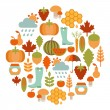 Stock Vector: Autumn card