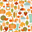 Seamless pattern with autumn icons — Stock Vector #30965153